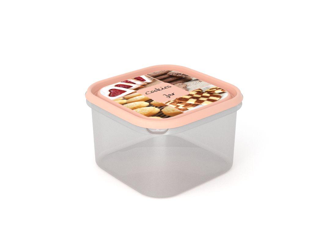 Inbar Food Container 2.8L 7288 Cookies IML Lid Pink