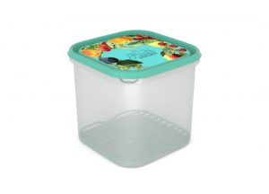 Inbar Food Container 4.2L 7422 Fruits on a branch IML Lid With Fresh Net Turquoise
