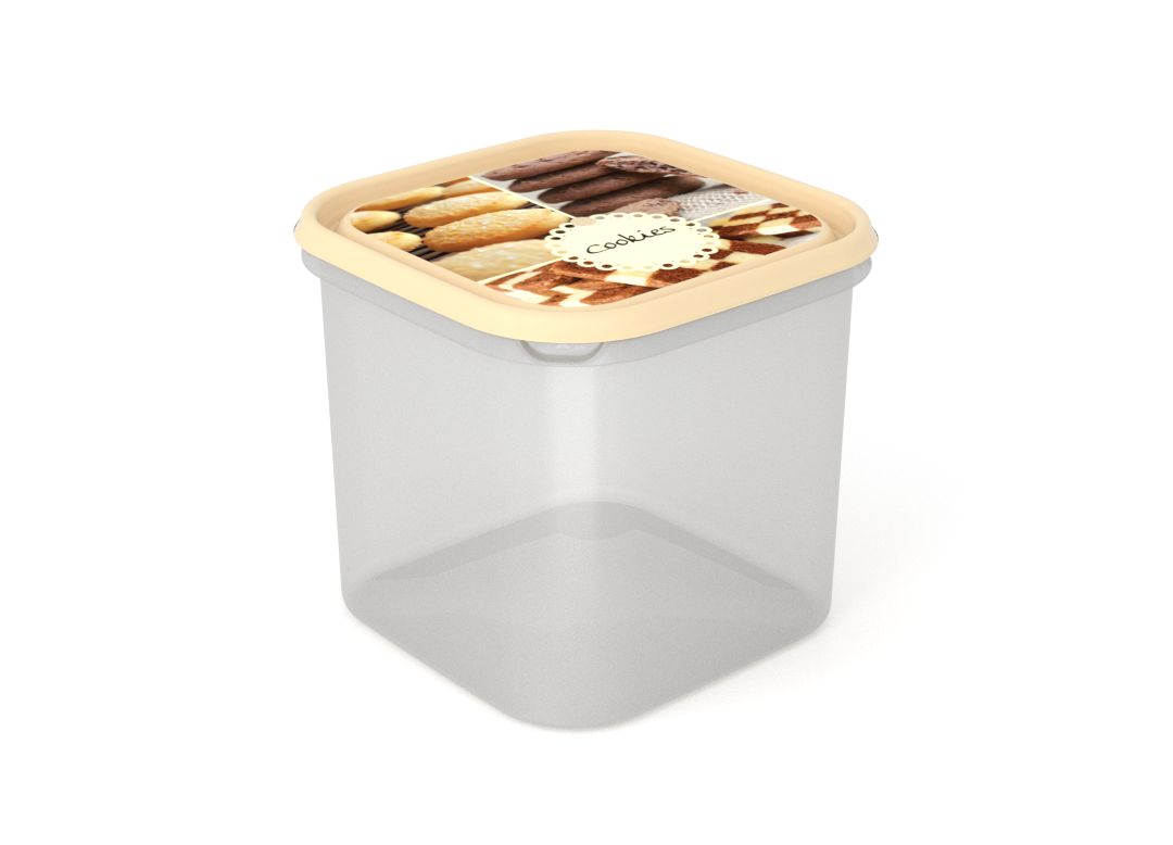 Inbar Food Container 4.2L 7428 Cookies IML Lid Cream