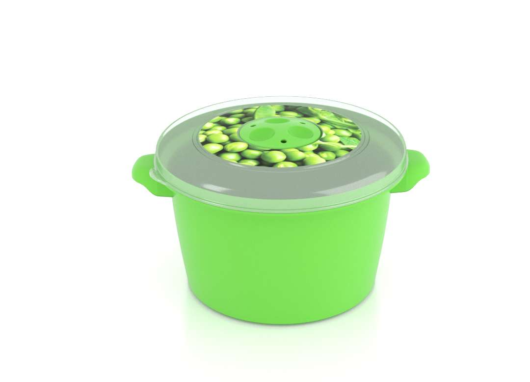 Micro Pot with Decorative Lid 1.5L 3151 Peas with Steam Release Valve Dark Green