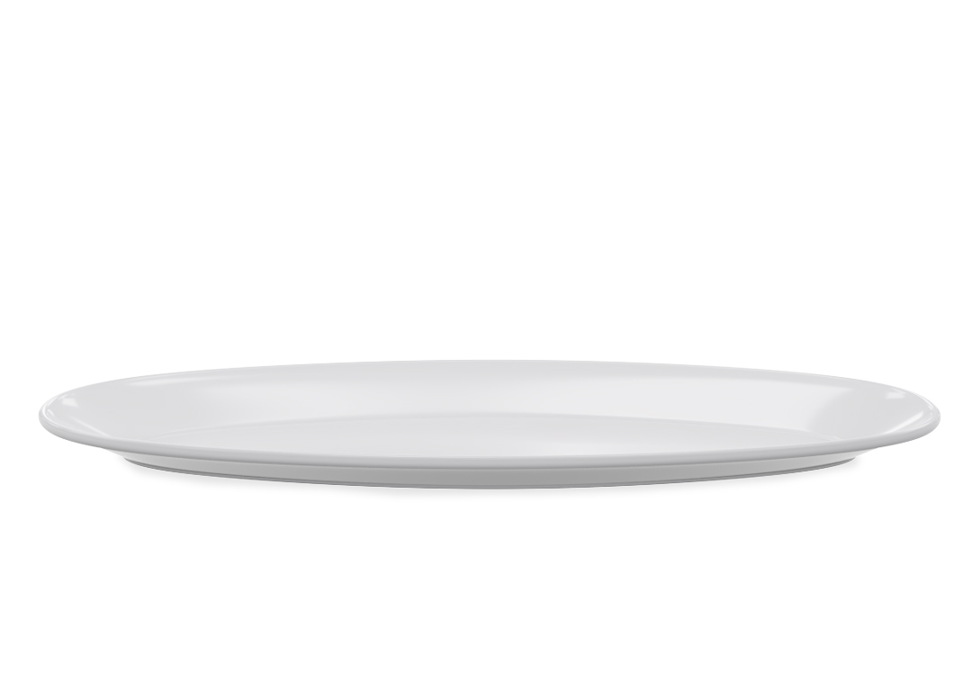Oblong Oval Plate 1019 Buffet White