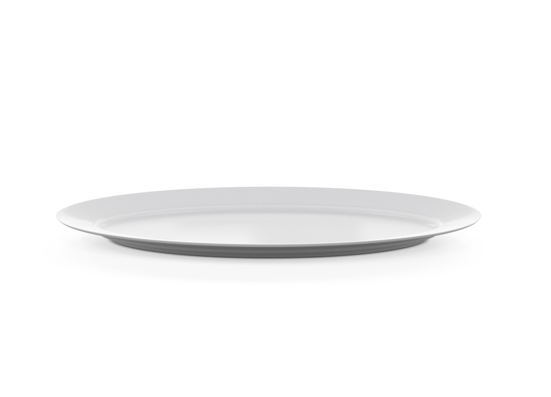 Oblong Oval Plate 605x225cm 1005 BUFFET White