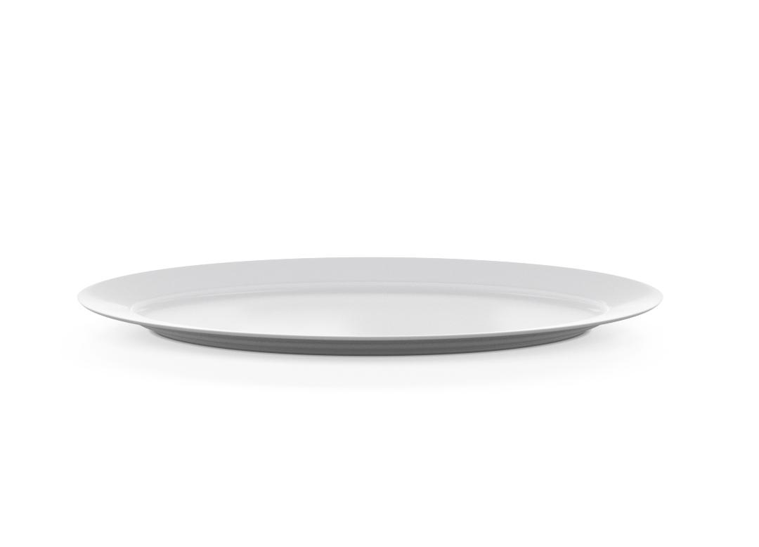 Oblong Oval Plate 605x225cm 1005 BUFFET White