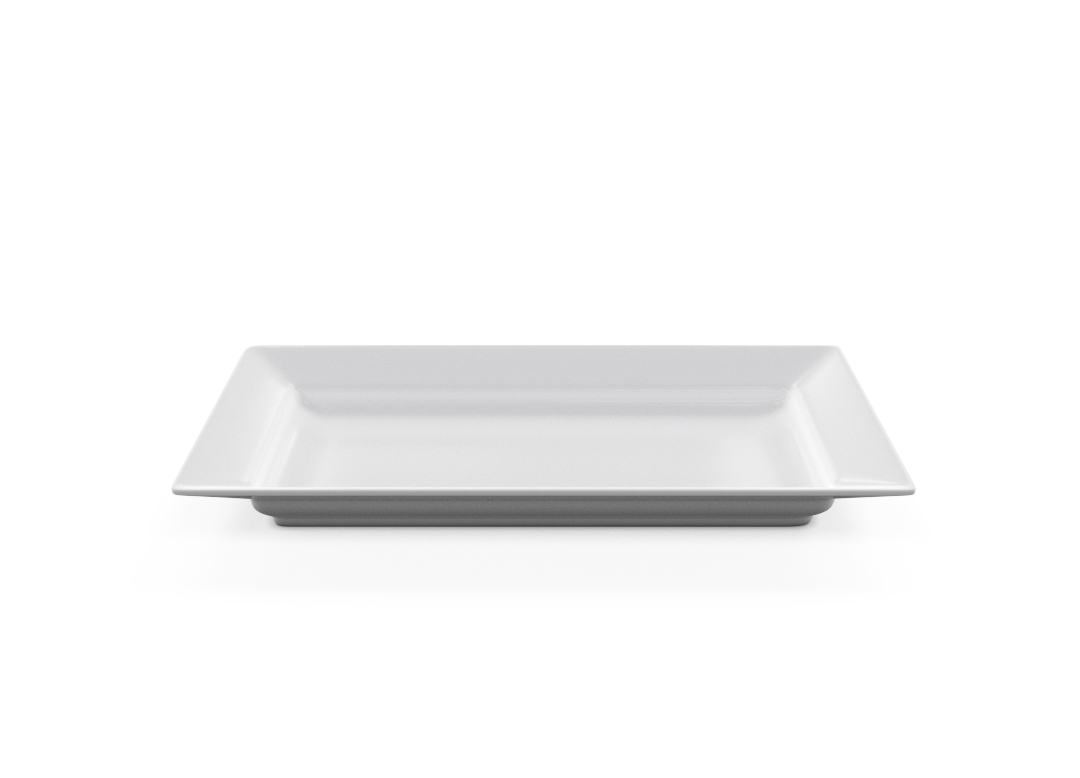 Rectangular Plate 35-5x20-5cm 1002 BUFFET White