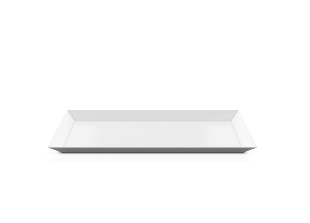 Rectangular Plate 35x17cm 1008 BUFFET White