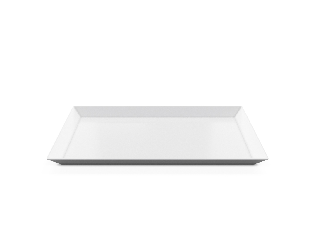 Rectangular Plate 35x24cm 1008 BUFFET White