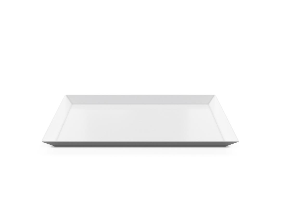 Rectangular Plate 35x24cm 1008 BUFFET White