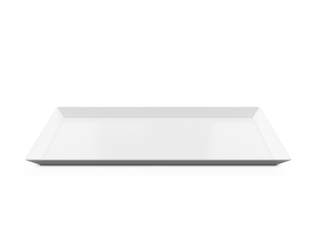 Rectangular Plate 42x24cm 1001 BUFFET White