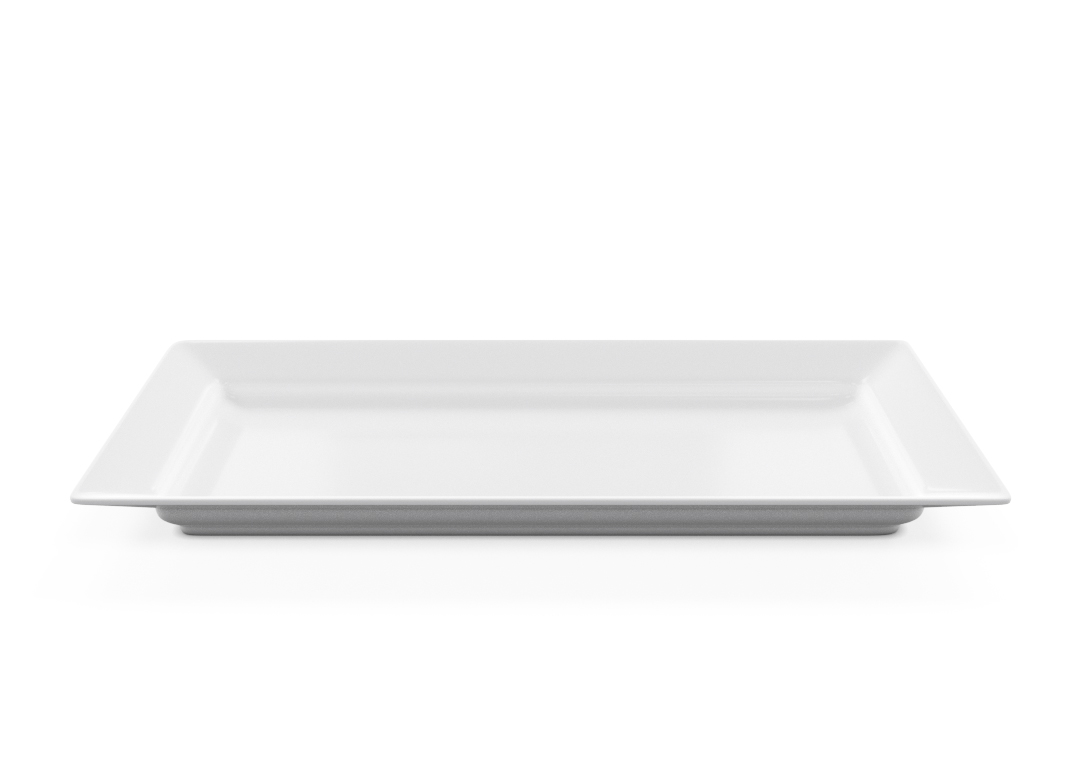 Rectangular Plate 44x22cm 1003 BUFFET White