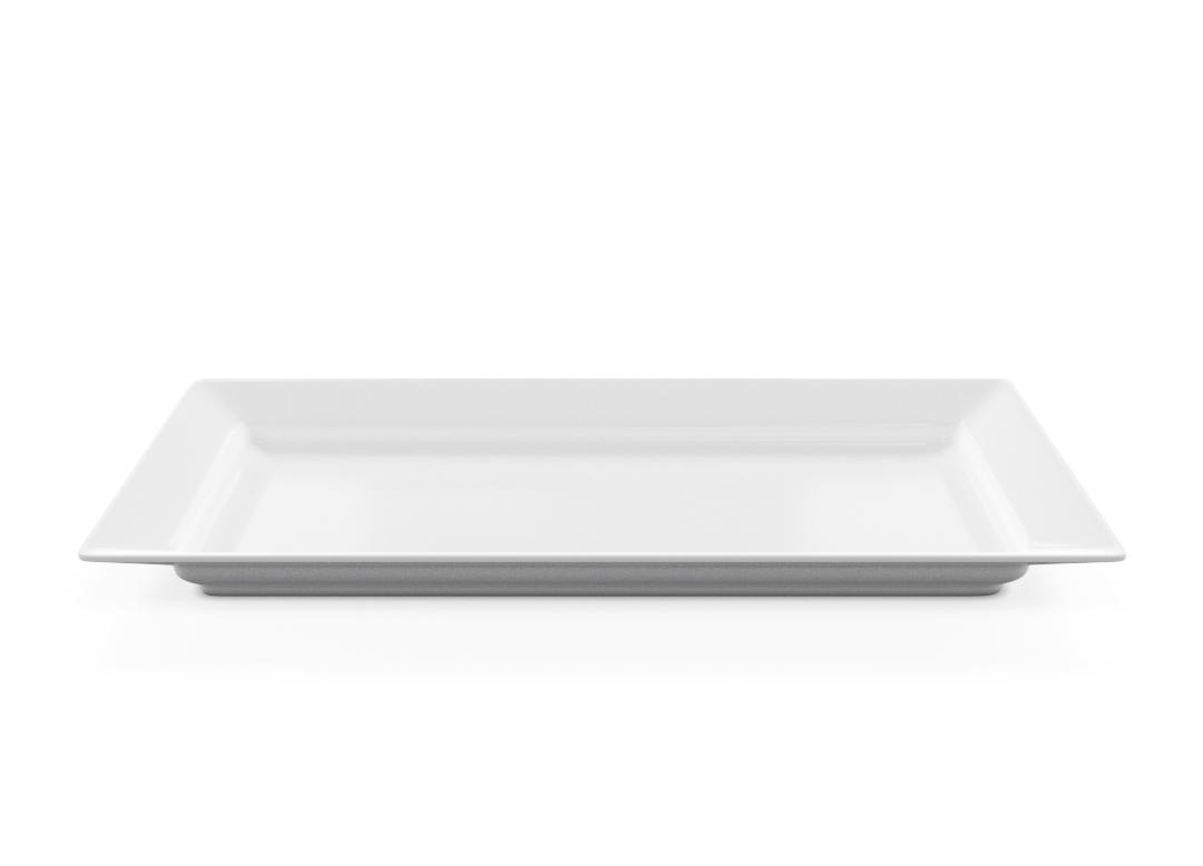 Rectangular Plate 44x22cm 1003 BUFFET White