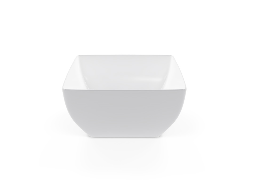 Square Bowl 19x19cm 1011 BUFFET White