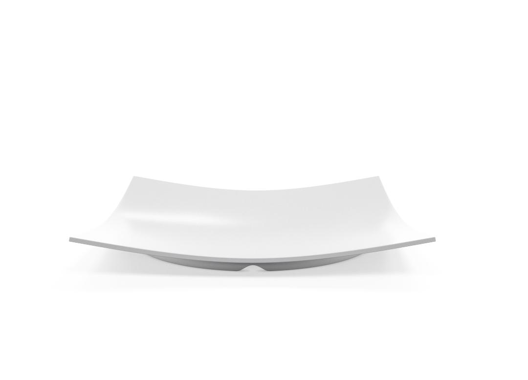 Square Plate 31x31cm 1006 BUFFET White