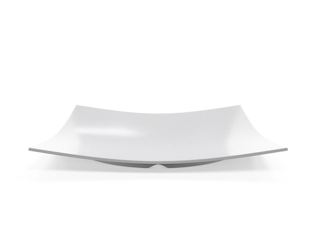 Square Plate 35x35cm 1007 BUFFET White