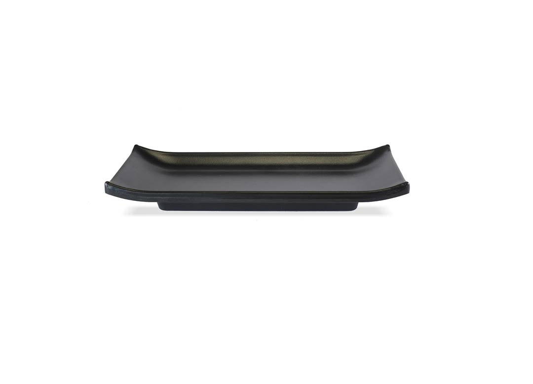 Sushi Rect Plate 22x9cm 1061 Black Stone