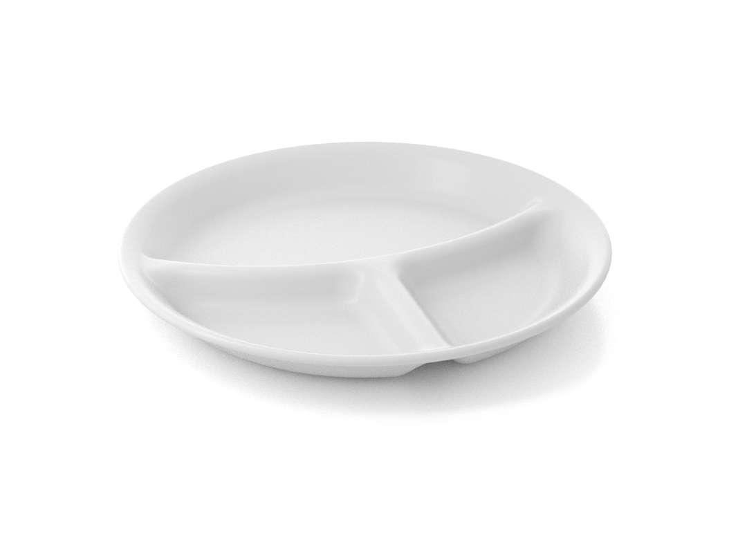 Shoham Divided Plate 23cm 55 white