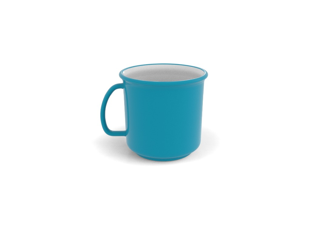 Ruby Decorative Cup 325ml 3109 Turquoise Ruby