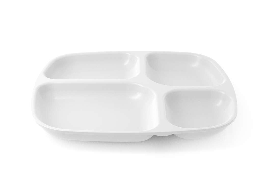 Shoham Divided Plate 24x26cm 58 White