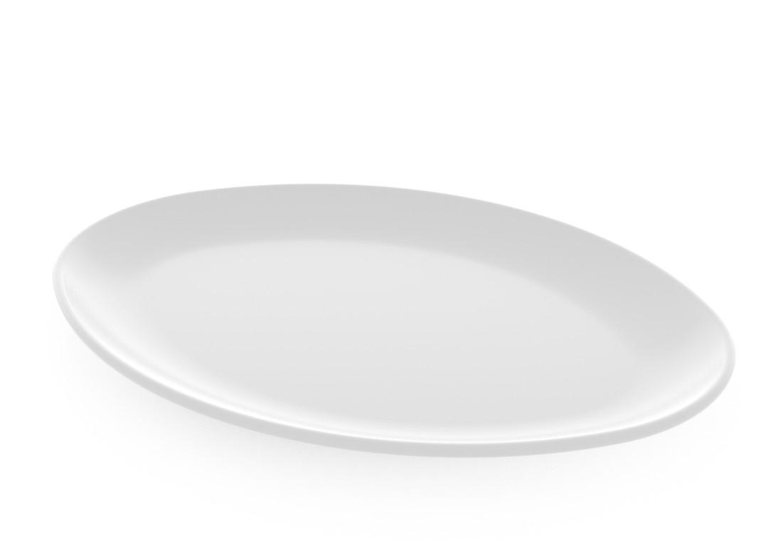 Fish Plate 32cm 376 White