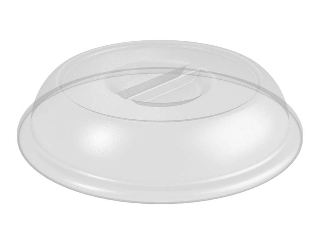 Plate Cover PC 26cm Without Vent 318 Transparent
