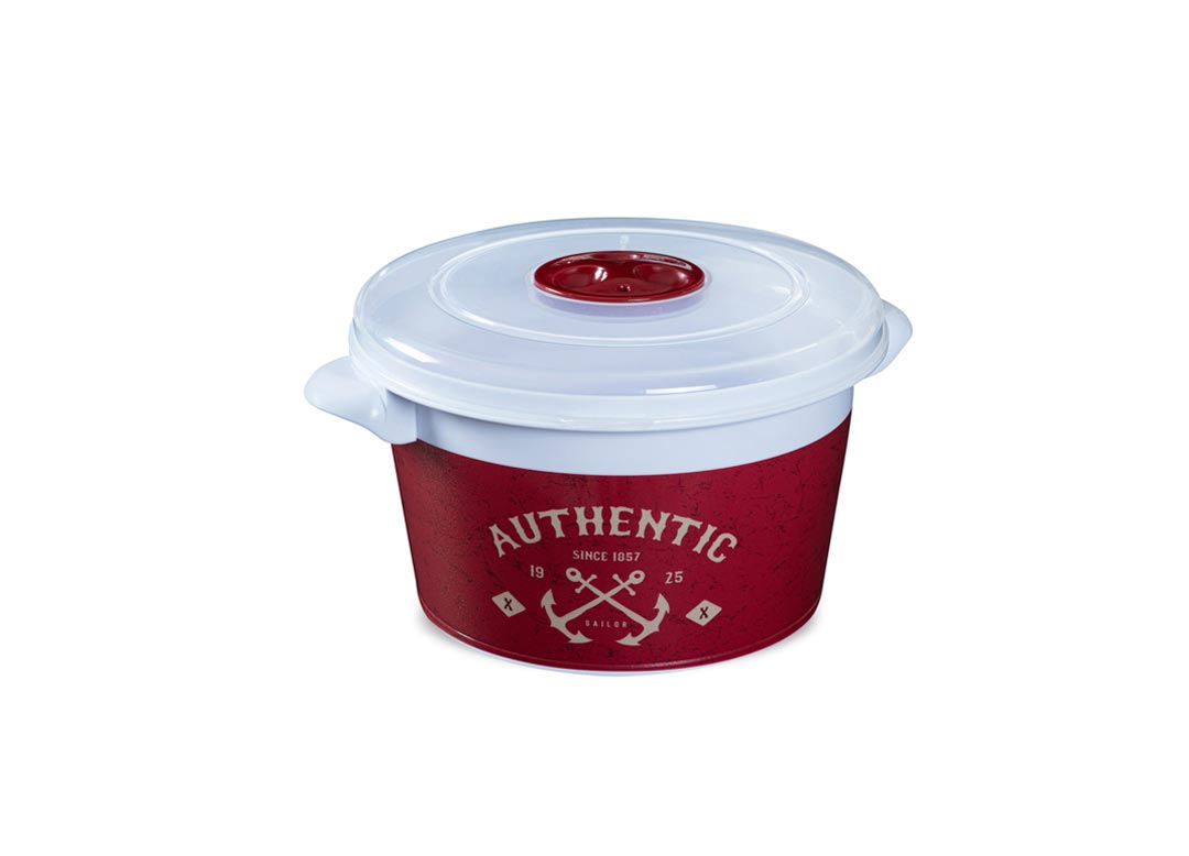 Decorative MicroPot AUTHENTIC 1.5L 1591 with team release valve Red