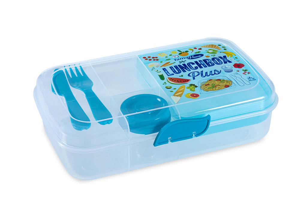 Lunch Box Plus 26x16x7cm 1090 Transparent Blue