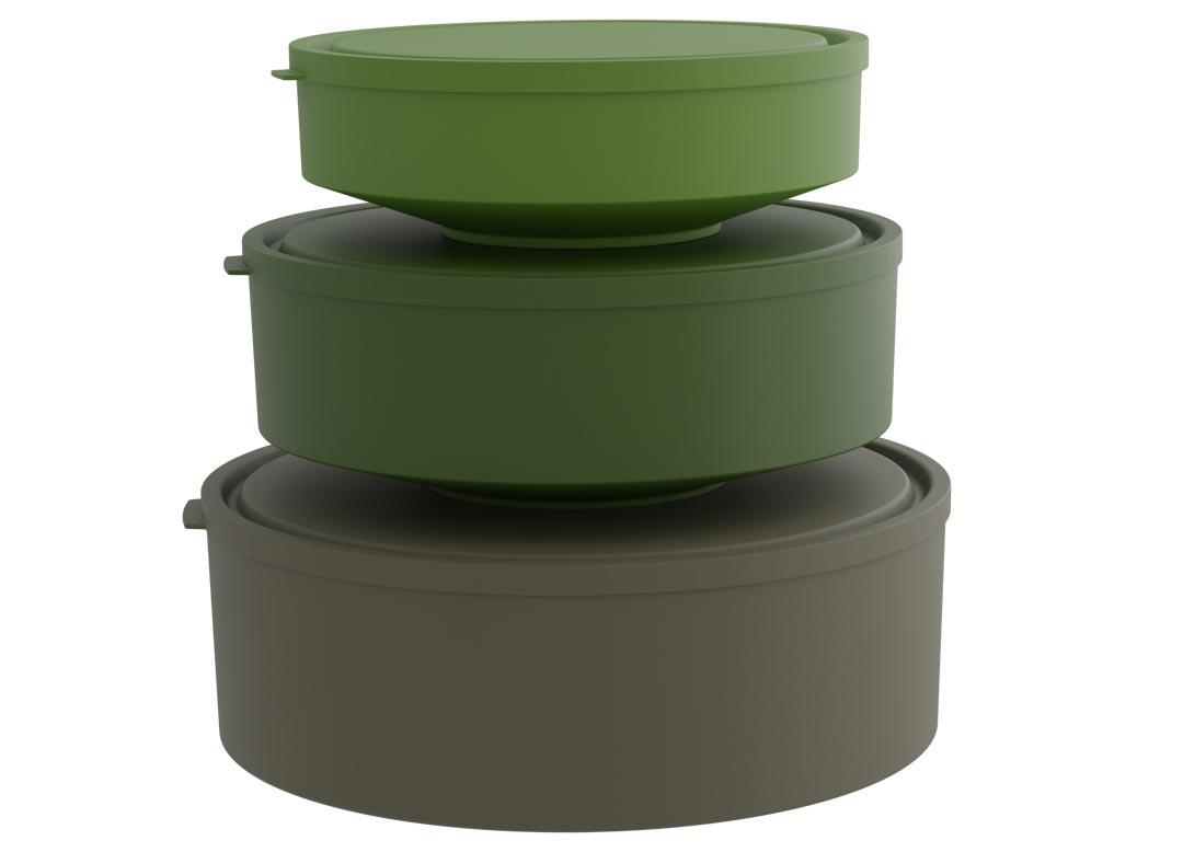 Set of 3 Yumi Bowls 3.6L, 2L, 1L 5003 Green