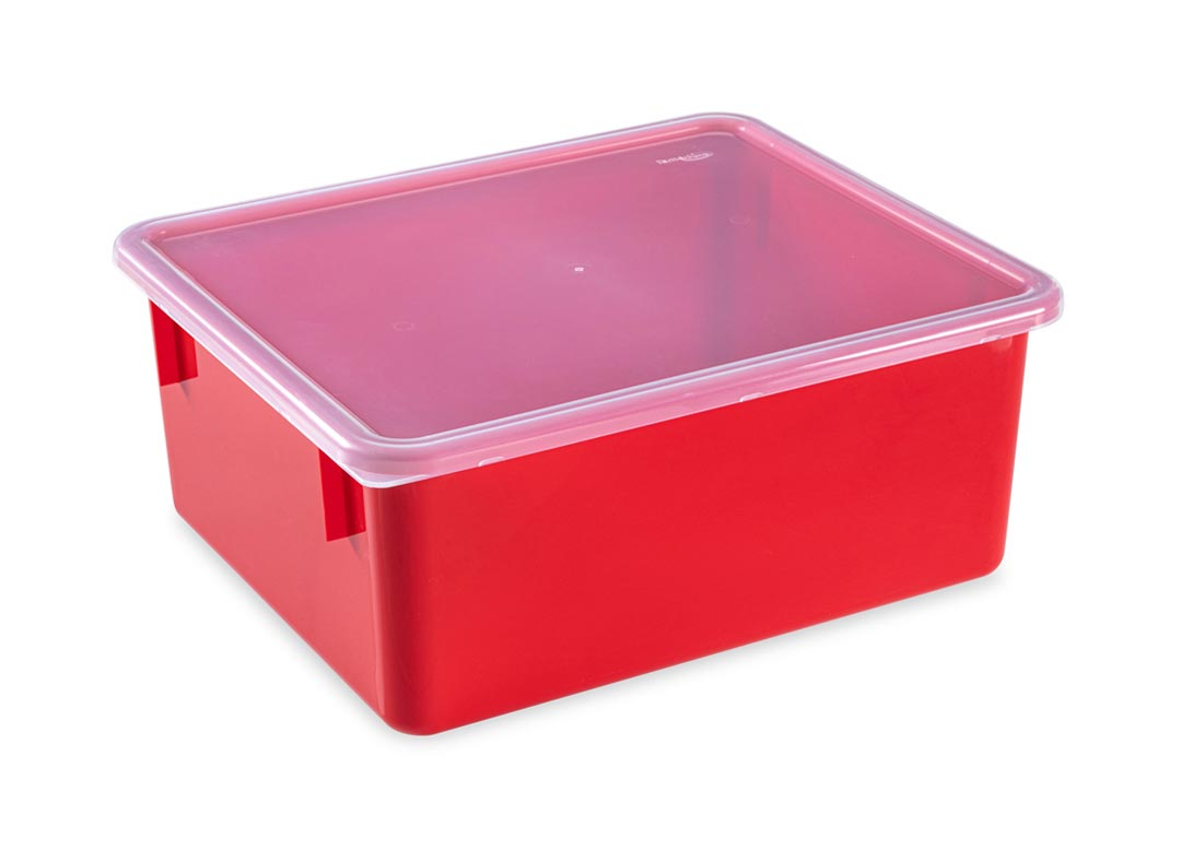 Box 10 16L with lid 6602 Red